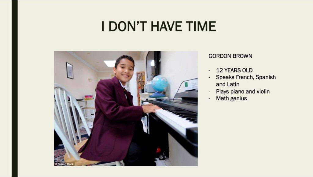 12-year-old math genius Gordon Brown