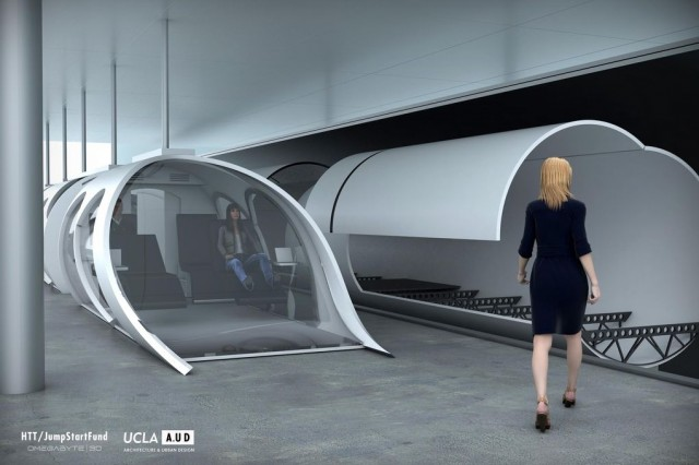 The proposed Hyperloop capsules
