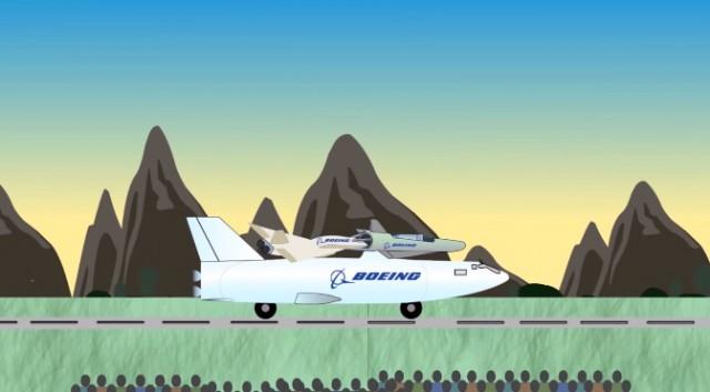 Boeing invents four-part reusable satellite launch vehicle