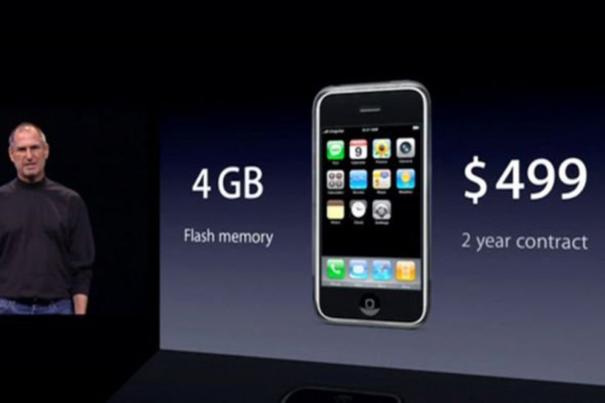 And it cost $499 for a 4GB model! There was no $200 or $0 subsidized option.