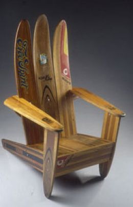 chair made from old waterskis