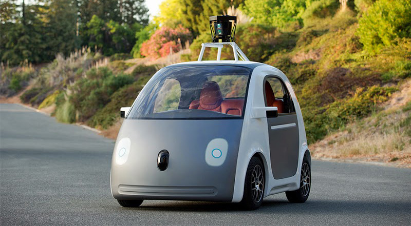Google self-driving car prototype, real thing