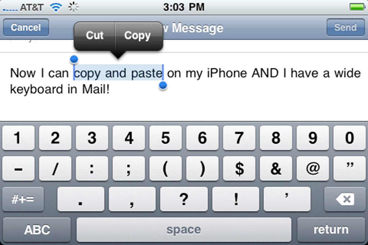 It took three years for Apple to add cut, copy, and paste.
