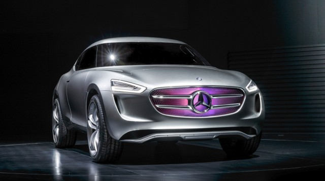 Mercedes hydrogen-electric hybrid harvests solar and wind energy with its paint job