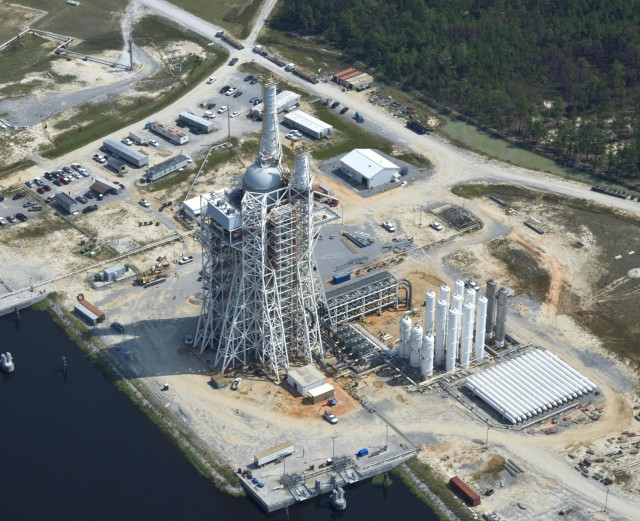 The A3 test stand at Stannis Space Center