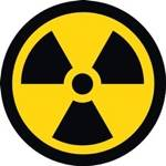 radiation symbol - radiation has been found in tap water