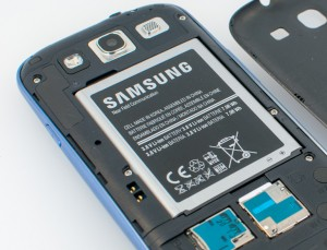 The battery of a Galaxy S3, showing its watt-hours