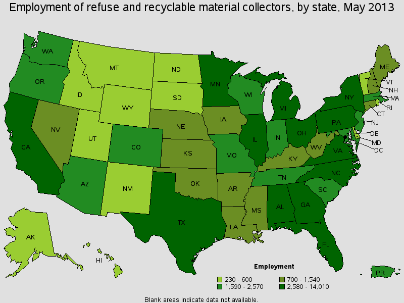 Waste and recycling industry posts employment gains in 2014