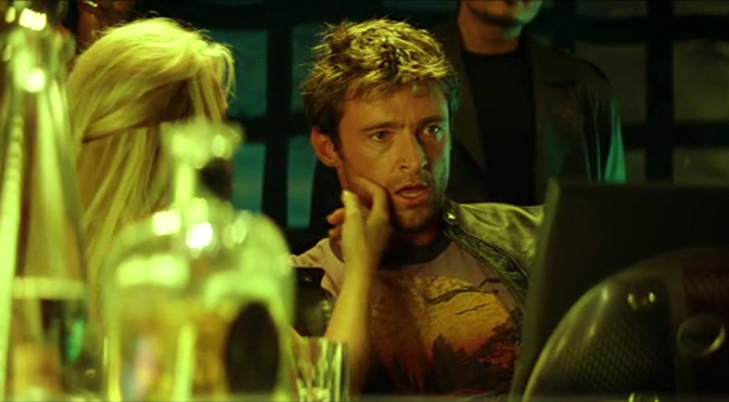 That hacking scene in Swordfish, before Hugh Jackman is... coerced.