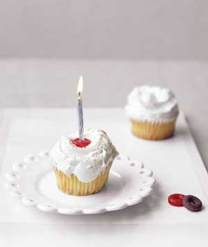 using a life saver as a candle holder on cakes cupcakes